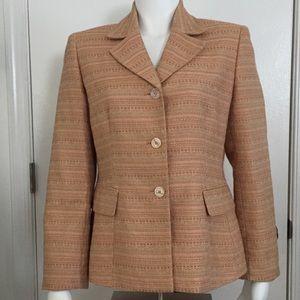 Le Suit Tweedy Blazer Size 10P